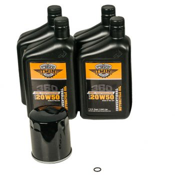 360 Twin™ Evolution / Sportster Conventional Oil Change Kit with Black Filter