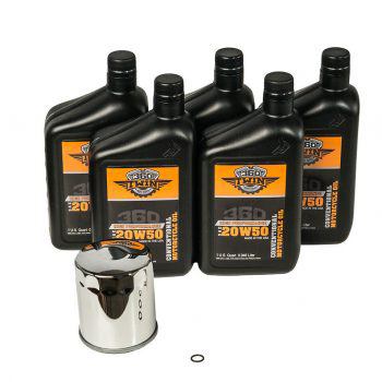 360 Twin™ Milwaukee Eight Conventional Oil Change Kit with Chrome Filter