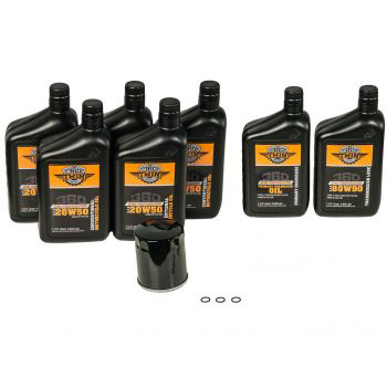 360 Twin™ Milwaukee Eight Conventional Fluid Change Kit with Black Filter
