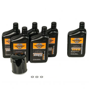 360 Twin™ Synthetic Milwaukee Eight Fluid Change Kit with Black Filter