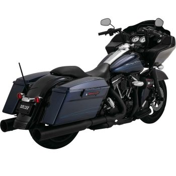 Vance & Hines Power Duals; Black; Includes 12mm and 18mm bungs