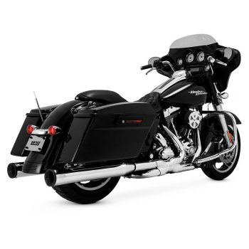 Vance & Hines Eliminator 400 Slip-Ons; Chrome/Black