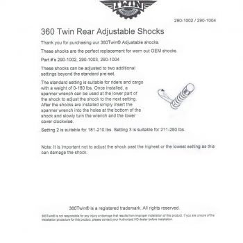 360 Twin™ 12″ Chrome Shock Absorbers