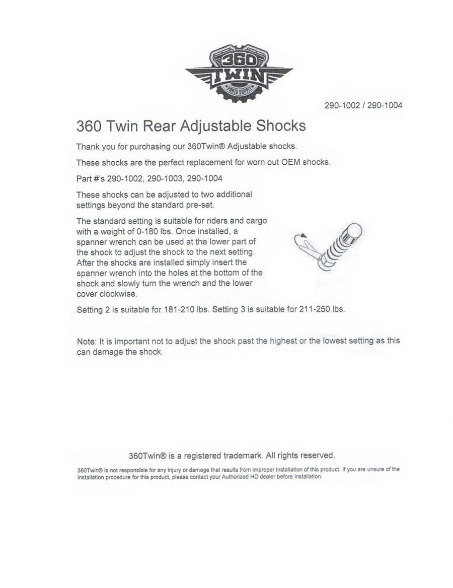 360 Twin™ 12″ Chrome Shock Absorbers